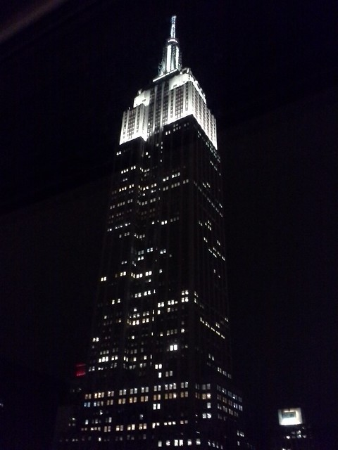the ESB at night