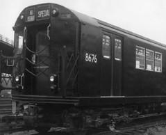 New NYCT IRT R29 8676, 1962 NYCTA press photo