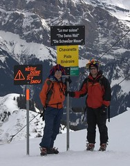 Kev and Greg at the top after doing the Swiss Wall Image