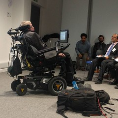 Professor Hawking making a speech about Artificial Intelligence. What could we achieve when our own minds are augmented by AI? He talks about working towards eradicating disease and poverty. Watch live http://ift.tt/2eS0zfm