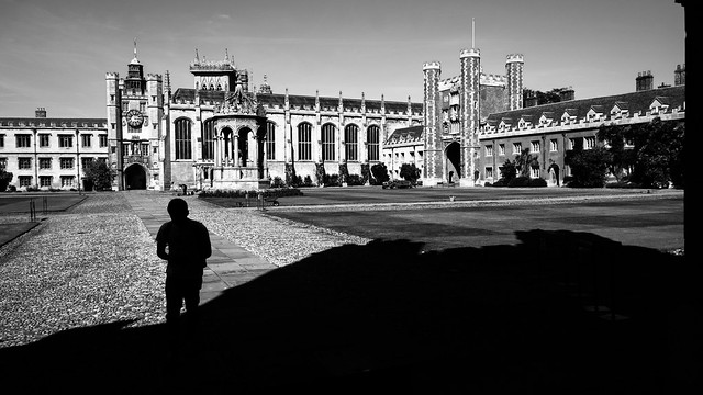 Trinity college - Cambridge, England - Black and white street photography