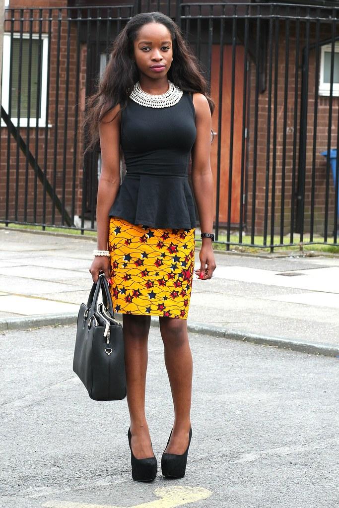 Street Style: Starstruck 'Ankara/Kitenge/Chitenge' Pencil Skirt