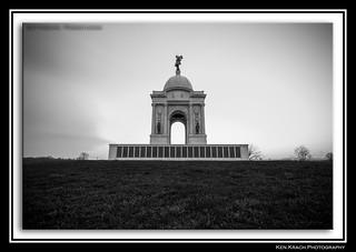 Pennsylvania Monument B&W