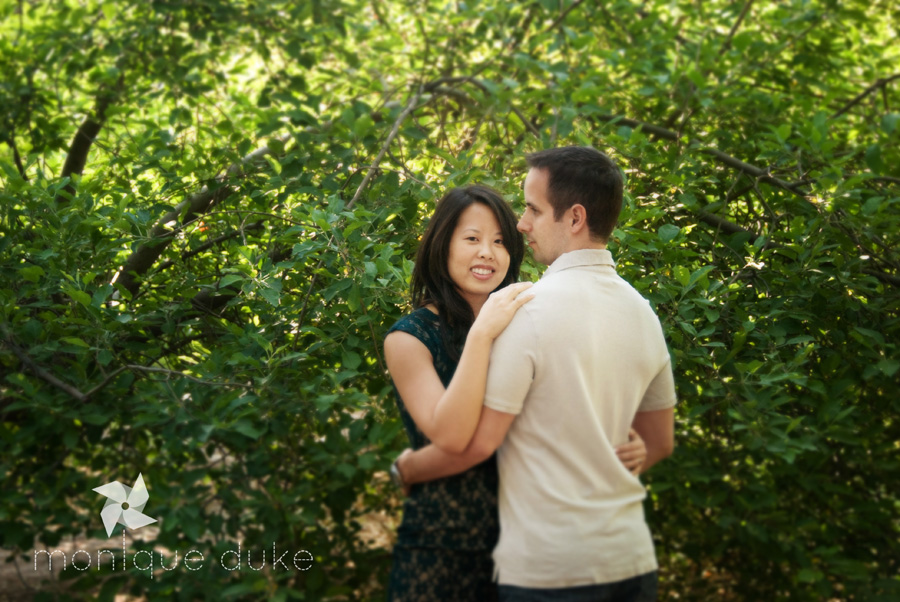 engaged couple in North Valley New Mexico