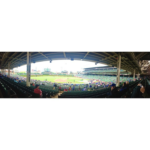 Scalped some good seats! #pictapgo_app #chicago #chicagocubs #wrigleyfield #panoramic