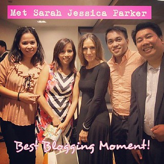 Best Blogging Moment! Met Sarah Jessica Parker!.