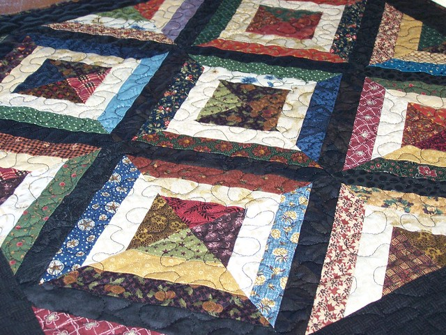 Scrappy Strip Quilt in Thimbleberries