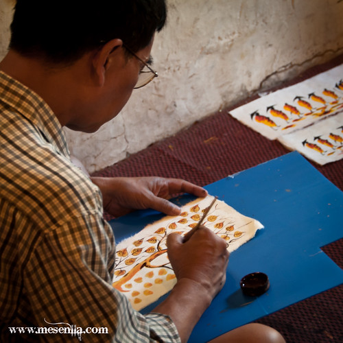 Pintando en Luang Prabang