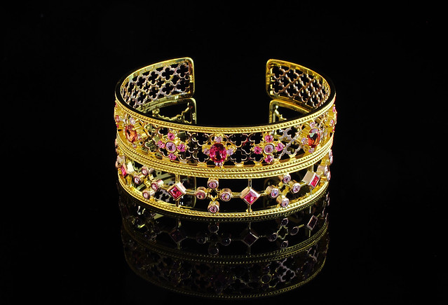 kristine dee bangles with spinels and sapphires
