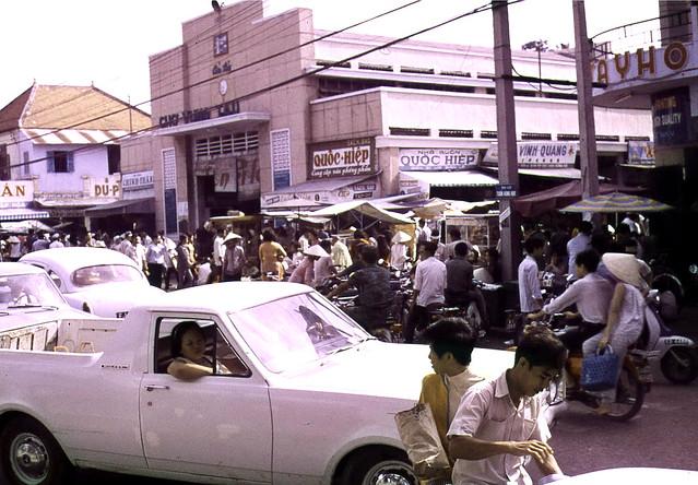 The Main Market in Vung Tau 1969-70 - Photo by Ian Douglas