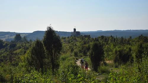 trail path castle zamek mirów lanscape view nature jura wyżynakrakowskoczęstochowska śląskie silesia silesian polska poland building architecture summer