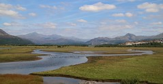 Views of Snowdonia from the Cob in Portmadog