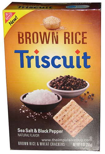 Nabisco Sea Salt & Black Pepper Brown Rice Triscuit