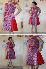 simplicity 2594 top A + scrap panels = a drop waist dress