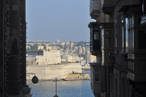 Fort St Angelo across the Grand Harbour, from Valletta