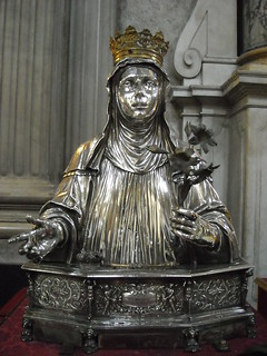 """Silver statue of Saint Patricia"" (1625) by Leonardo Carpentiero - Treasure of Saint January Chapel in Naples"