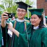 13cmc03 -- Boxiang Liu and Luyuan Liu use a cell phone to take a photo of themselves.
