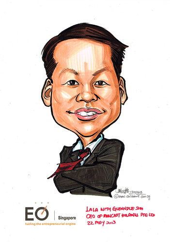 Glenndle Sim caricature for EO Singapore