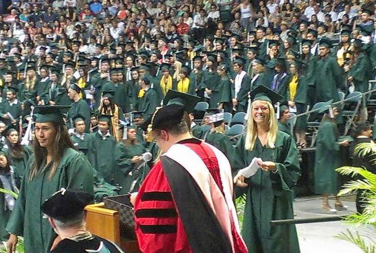 """<p>UH Manoa School of Communications graduates at the campus' commencement ceremony at the Stan Sheriff Center. May 11, 2013<br /> <br /> Go to the school's Facebook page to see more photos - <a href=""""https://www.facebook.com/UHMCOM"""" rel=""""nofollow"""">www.facebook.com/UHMCOM</a></p>"""