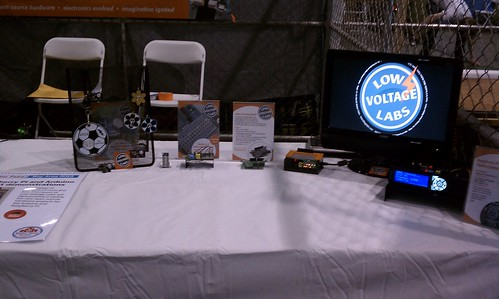 Maker Faire 2013 table setup