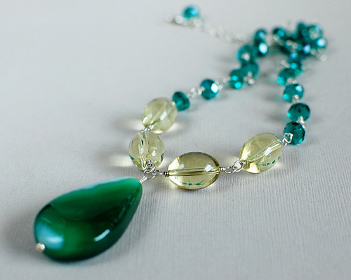 Green Agate Neck