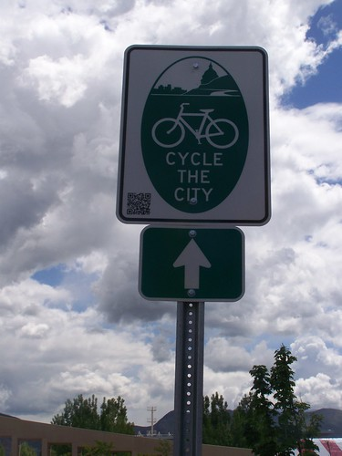 Salt Lake City has developed a loop bicycle tour of the city, and has branded signage for the route