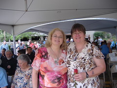 PFC ANTHONY SIMMONS AND ROBERT WISE MOMS AT LCS MEMORIAL TO ITS STUDENTS KIA DURING THE AFGHANISTAN AND IRAQ WARS