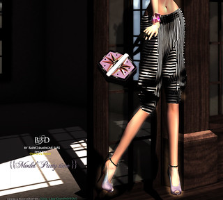 {{BSD Design studio}} supermodel party time - purple high heels840