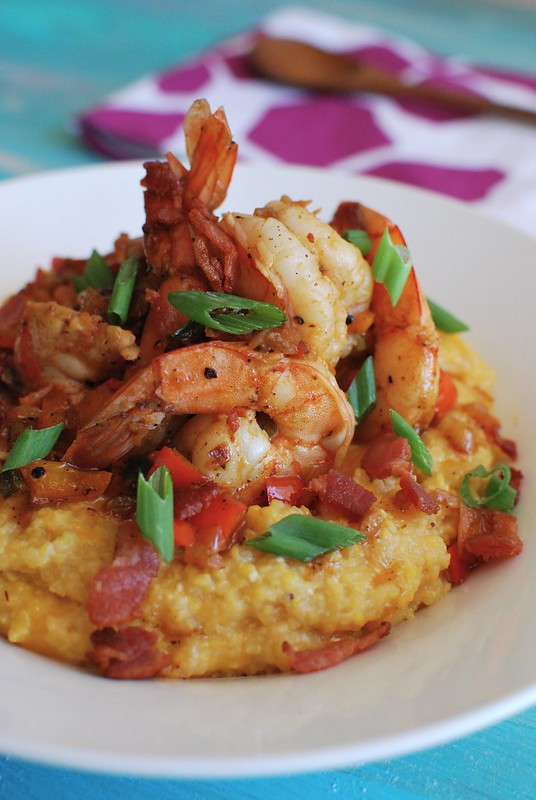 Bacon & Shrimp Cheesy Grits