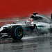 Mercedes F1 car testing in the wet at Silverstone by Miles From Nowhere Photography
