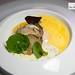 Organic egg, cassava, passionfruit and black truffle