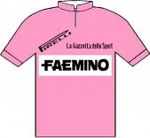 Faemino - Giro d'Italia 1970 - La maglia rosa del vincitore Eddy Merckx