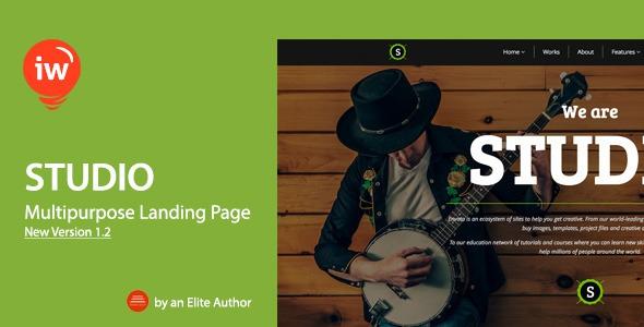 Studio v1.2 - Responsive Landing Page