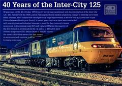 Inter-City 125 | 40yrs Poster | Grey Logo