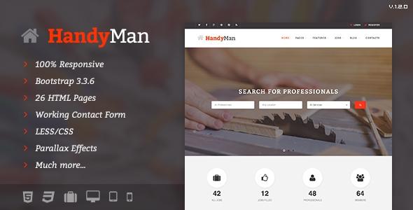 Handyman v1.2.0 – Job Board HTML Template