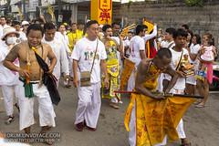 Bloody street procession at Phuket Vegetarian Festival. October, 2016. Phuket, Thailand