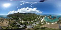 Kite Aerial Panorama of the InterContinental Moorea Resort & Spa
