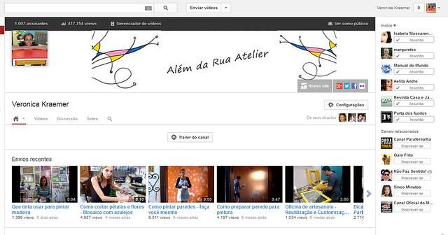 Canal do Além da Rua no You Tube