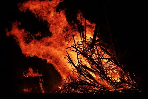 Bealltainn Bonfire, by Jim Champion