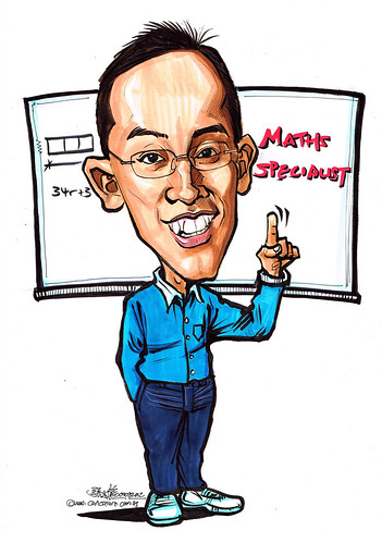 Maths Specialist caricature
