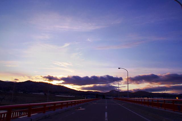 メロディー橋の夕景