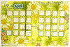 Art journaling calendar April page