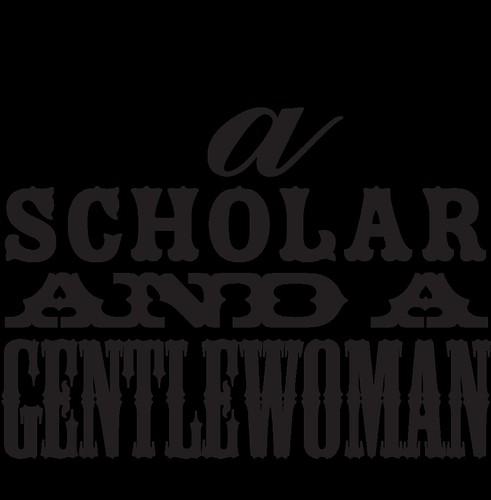 typography freebie: a scholar and a gentlewoman