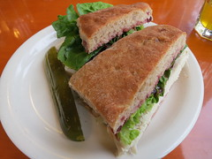 Turkey sandwich at the Market Chef