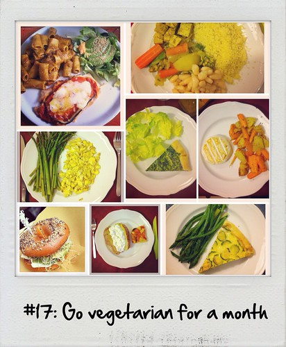 #17: Go vegetarian for a month