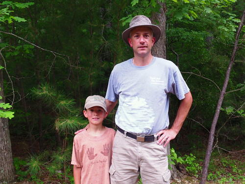 Noah Scott and his father Andy, a scientist with the U.S. Forest Service.
