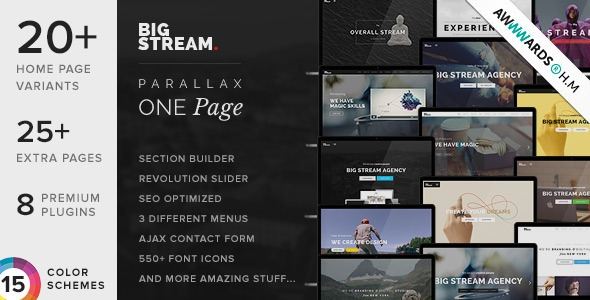 BigStream v1.4.4 - Multipurpose Multi/One Page Theme