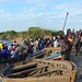 Busy ferry place Namuranga, Ruvama Mouth; ferries from Mozambique to Tanzania