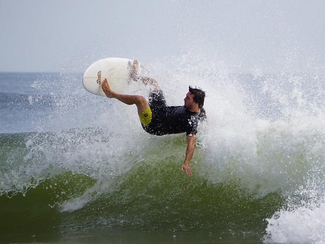 surfing Ortley Beach NJ August summer 2016