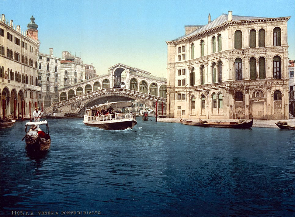 The Grand Canal with the Rialto Bridge, Venice, Italy